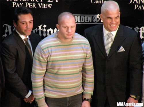 Fedor also holds the award for owning the Baddest Sweater on the Planet