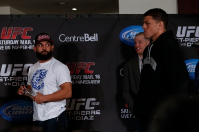 Even my guy Bigg Rigg, (who is going to KO Condit this weekend) doesn't want any part of the Diaz scowl.