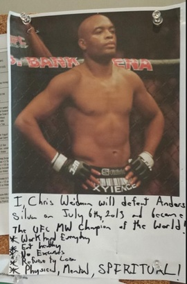 Weidman's refrigerator note to himself. Very cool!